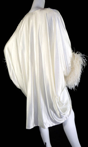 Lucie Ann Beverly Hills hostess gown ivory silk