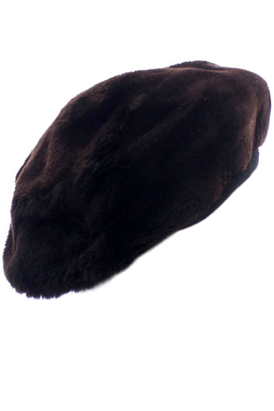 Irene New York vintage black sheared mink hat - Dressing Vintage