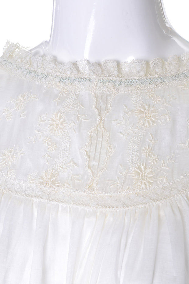 Embroidered Iris Lingerie Sylvia Pedlar Vintage Babydoll Nightgown