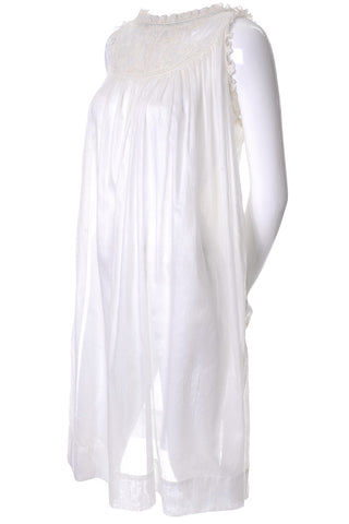 1970s Lilli Diamond Off White Vintage Dress Drop Sequin Statement Sleeves Size 6
