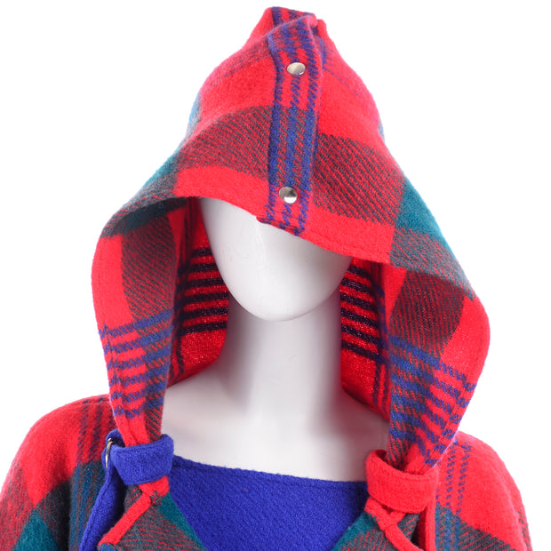 1980s Plaid Jean Charles de Castelbajac Vintage Blanket Coat Plaid