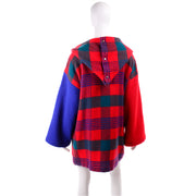 Hooded Jean Charles de Castelbajac Vintage Plaid Coat