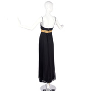 Jean Patou Grecian Vintage Evening Gown w/ Pleated Skirt