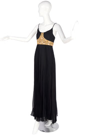 Jean Patou Vintage Evening Gown w/ Pleated Skirt