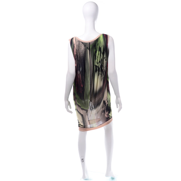 Vintage Jean Paul Gaultier Maille Femme Photograph Dot Print Dress Sleeveless