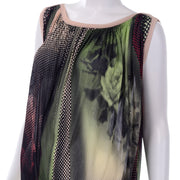Op Art Vintage Jean Paul Gaultier Maille Femme Photograph Dot Print Sleeveless Dress