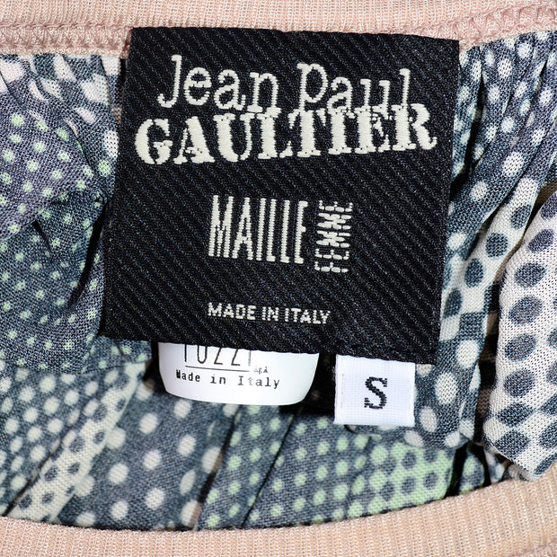 Vintage Jean Paul Gaultier Maille Femme Photograph Dot Print Dress Small
