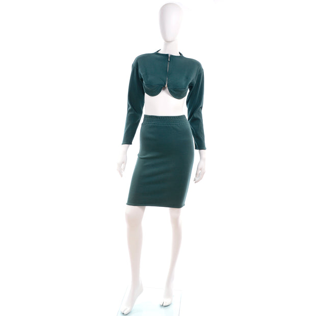 1980s Jean Paul Gaultier Public Teal Dress