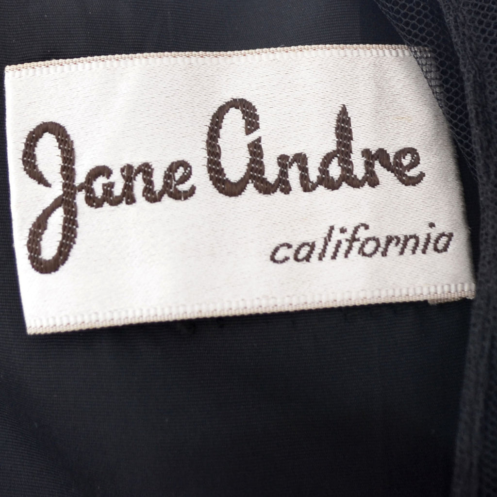 Jane Andre California vintage dress 1940s