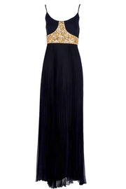 Jean Patou Grecian Evening Gown w/ Pleated Skirt