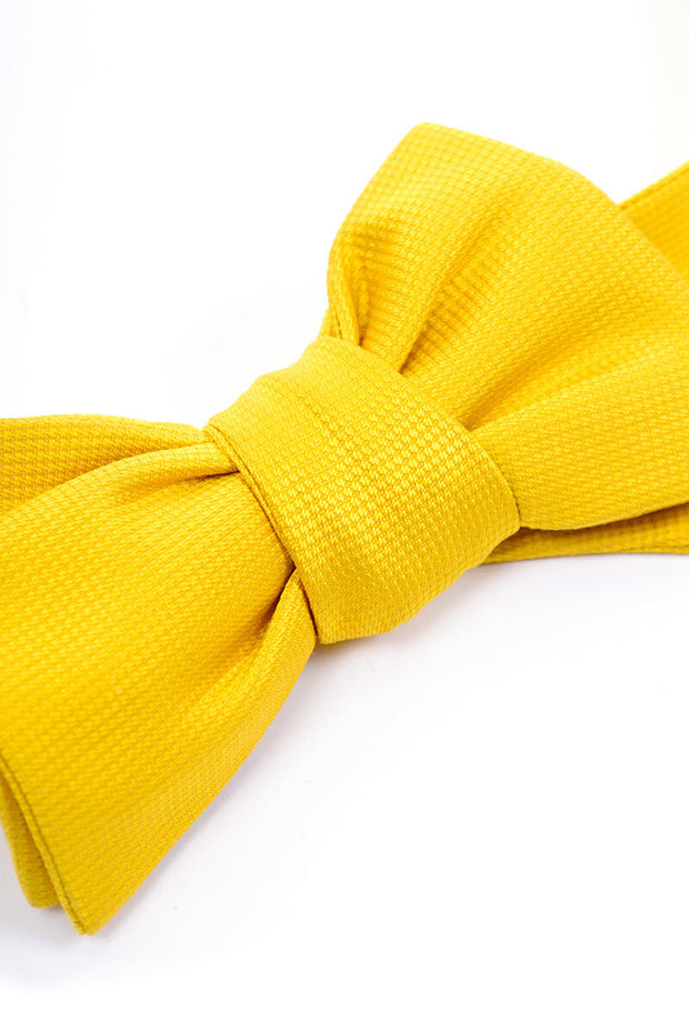 Vintage Jim Thompson Silk Yellow Bow Tie