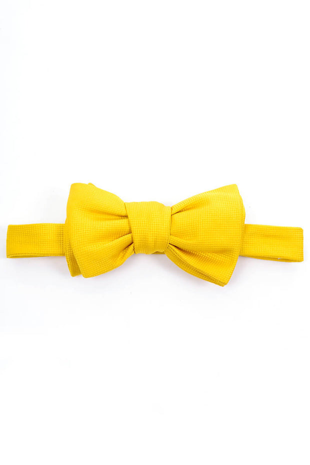 Yellow Jim Thompson Thai Silk Vintage Bow Tie