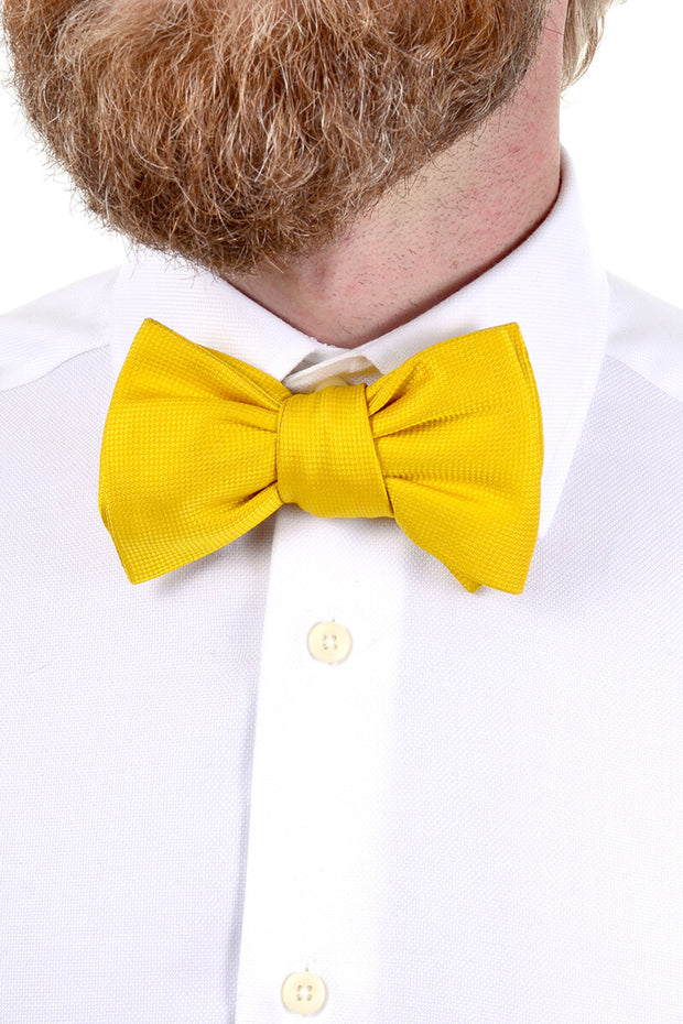 1980s Yellow Jim Thompson silk bow tie