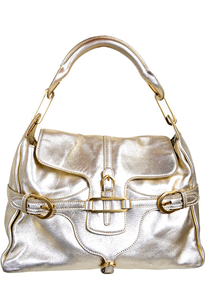 Vintage 1990s Jimmy Choo Gold Handbag