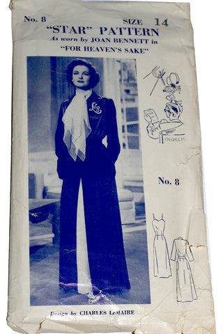Star Pattern Charles LeMaire Joan Bennett Sewing Robe