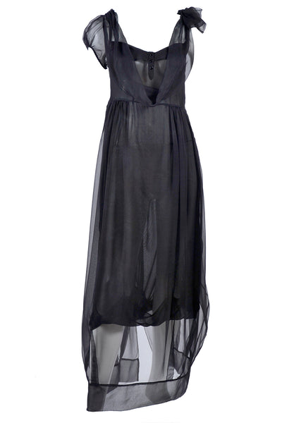 2006 John Galliano Sheer Silk Asymmetrical Dress