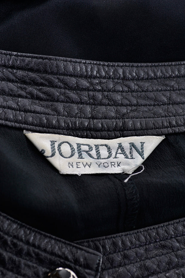 1980s Vintage Jordan Black Jumpsuit Label