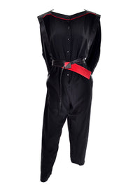 Vintage 1980s Black Jumpsuit by Jordan, one size
