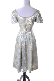 Harvey Berin Karen Stark Vintage 1950s Dress Silk Chantilly Lace - Dressing Vintage