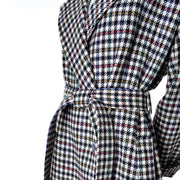 Colorful houndstooth vintage checked plaid vintage Kenzo coat