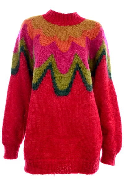 Kikit Maurice Sasson Mohair Red Sweater
