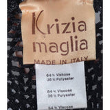 Krizia maglia made in Italy early 1980's Krizia label on an open weave stretch sweater with extra long sleeves