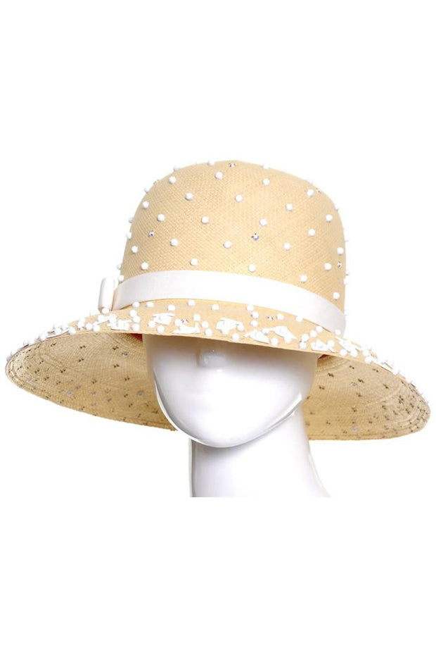 Kurt Jr Vintage Straw Hat Beaded Dead Stock