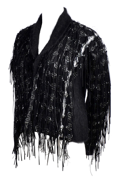 Vintage Lainey Black Fringe Jacket