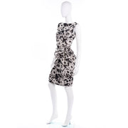 Sleeveless  Lanvin 2011 Alber Elbaz Dress Crinkle Abstract Print Silk