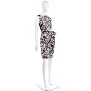Lanvin 2011 Alber Elbaz Dress Crinkle Abstract Print Silk Sleeveless