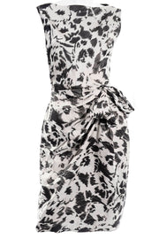 Lanvin 2011 Alber Elbaz Dress Crinkle Abstract Print Silk