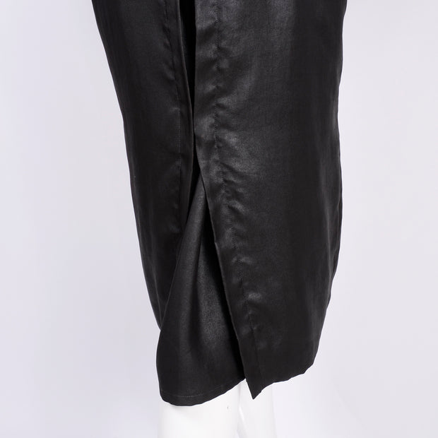 Beautiful Alber Elbaz Lanvin Spring Summer 2006 Runway Black Silk Trench Coat