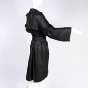 Alber Elbaz Lanvin Spring Summer 2006 Runway Black Silk Belted Trench Coat