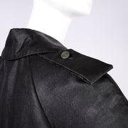 Buttons Alber Elbaz Lanvin Spring Summer 2006 Runway Black Silk Trench Coat