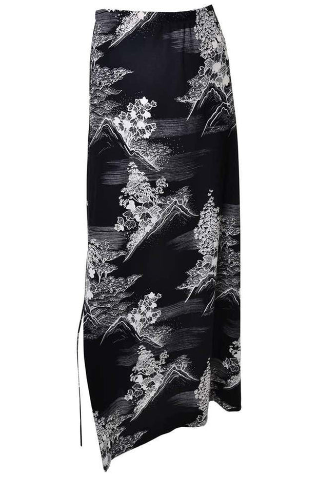 Lanvin Vintage 1970s 3 Pc Black & White Print Jersey Dress