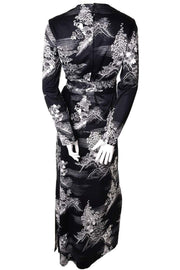 1970s Rare Lanvin Vintage Black & White Print Vintage Dress