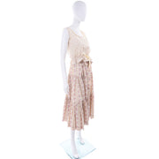 Laura Ashley 1970s Vintage 2pc Dress Victorian Inspired Floral Skirt & Top Great Britain
