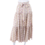 Laura Ashley 1970s Vintage 2pc Dress Victorian Inspired Floral Ruffled Skirt & Top