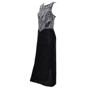 Laurence Kazar Dress Vintage Beaded Evening Gown - Dressing Vintage
