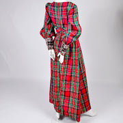 Red Plaid Leo Narducci Vintage Jumpsuit