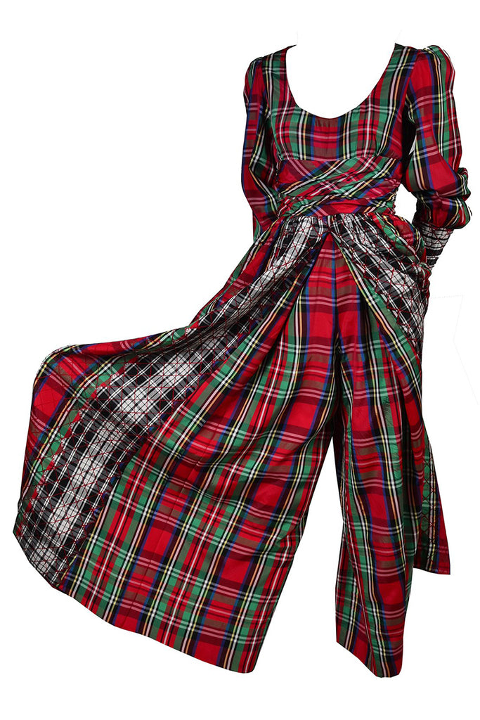 Leo Narducci Vintage Plaid Jumpsuit Holiday dress