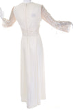 Lilli Diamond Maxi Dress in Off White 1970's