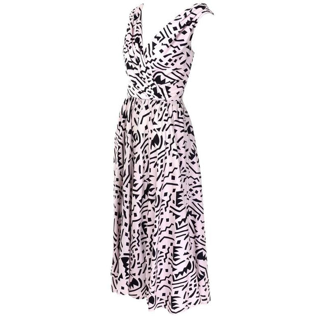 Light pink Lillie Rubin dress with black print