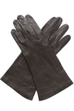Loewe Spain vintage gloves brown leather silk lining