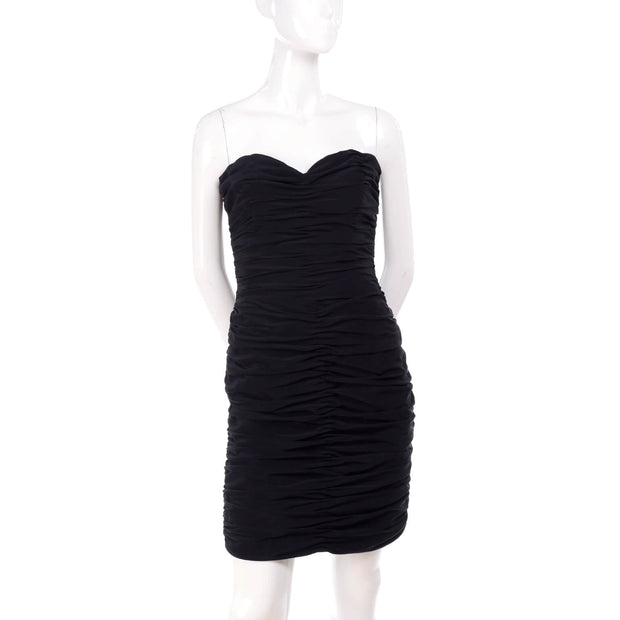 Vintage Loris Azzaro rouched bodycon mini dress