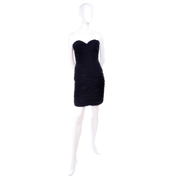 Loris Azzaro vintage little black dress size 2