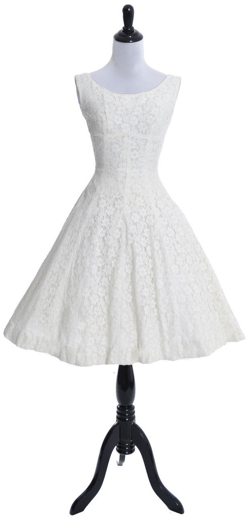 Lorrie Deb 1950\'s vintage dress white lace modern wedding with ...
