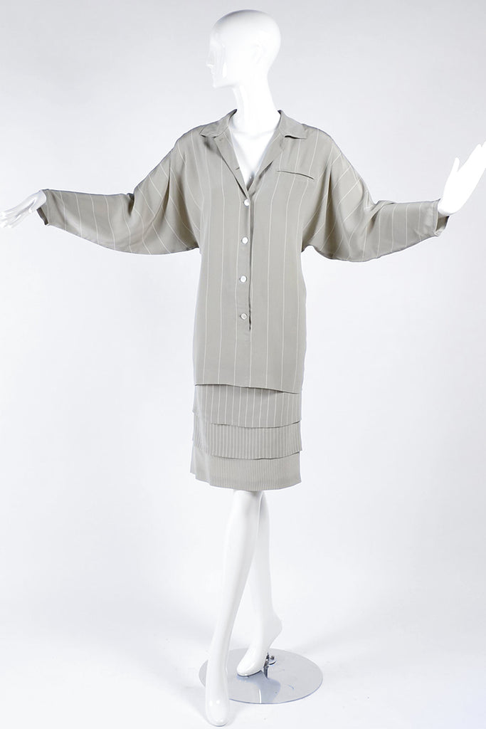 Louis Feraud Layered Silk Shirt Dress