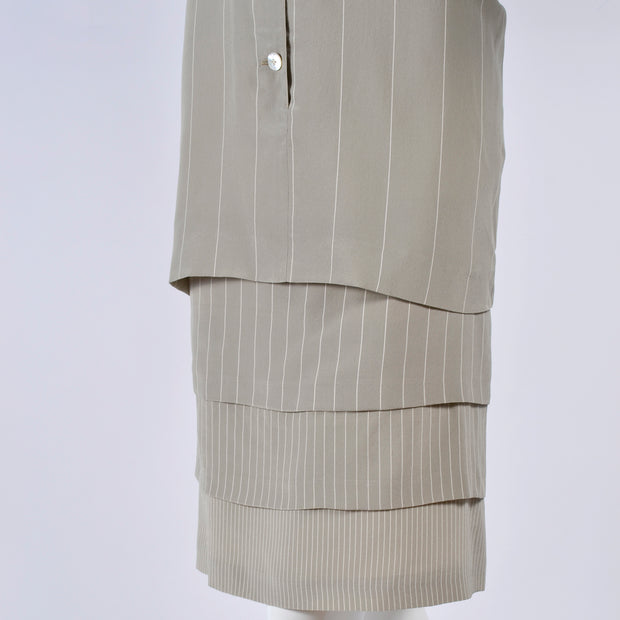 1980s Louis Feraud Vintage Pinstripe Shirt Dress