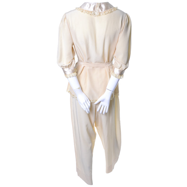 Vintage silk pajamas Saks Fifth Avenue Soie ivory